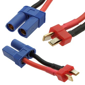 EC5 M to Deans M, 14AWG 4CM