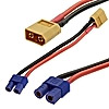 XT60 M TO EC3 F adapter 14AWG 10CM