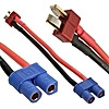 Deans M TO EC3 F adapter 14AWG 10CM